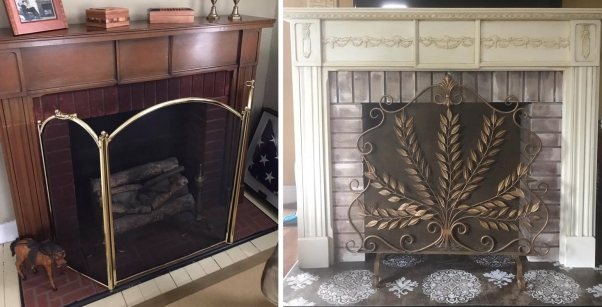 Before and After Faux Fireplace